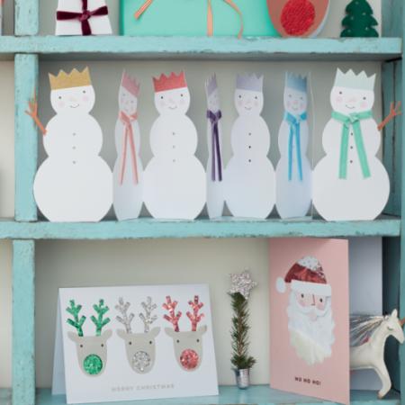 Postal Muñeco de Nieve Feliz Año