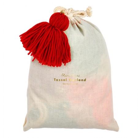 Festive Wool Tassel Garland