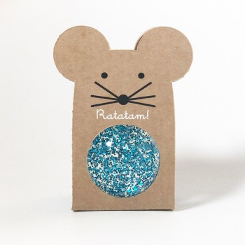 Mouse Bouncy Balls Glitter Blue