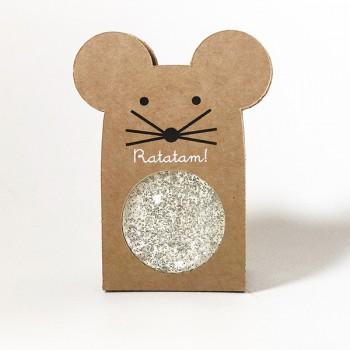 Pelota saltarina ratón - Plateada