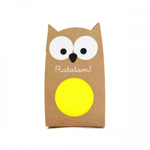 OWL Bouncy Balls Yellow