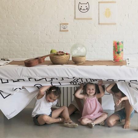 La cabaña cubre-mesa