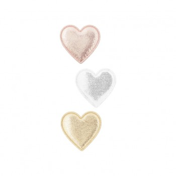 Metallic sweetheart clips (Pack of 3)