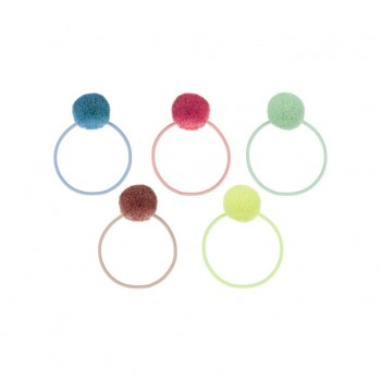 Pom Pom ponies, Brights (Pack of 5)