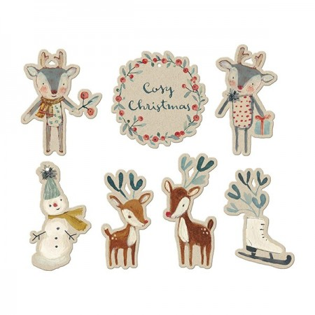 Cosy Christmas gifts tag (14u)