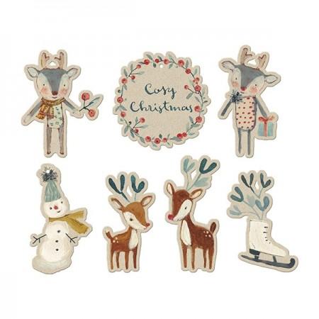 Etiquetas de Navidad (14u)