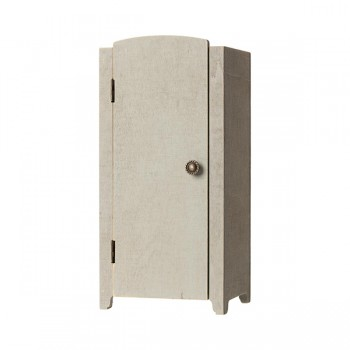 Vintage closet with shelves Mini - Mint Grey
