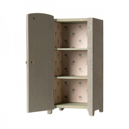 Vintage closet with shelves Mini - Mint Grey