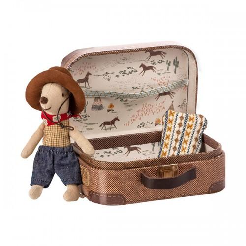 Ratoncito Cowboy con maleta