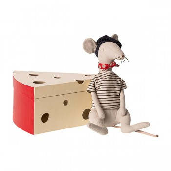Rata en caja de queso - Gris claro