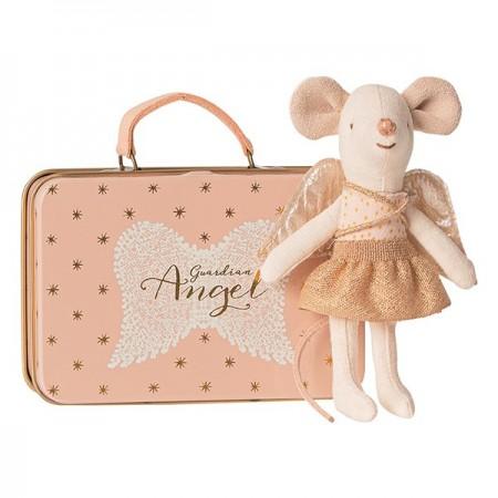 Ratoncita ángel guardian con maleta