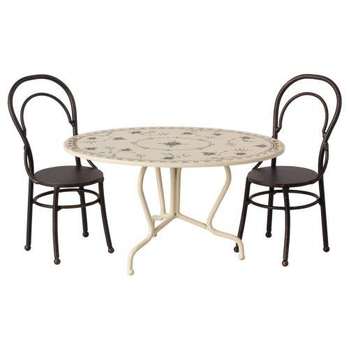 Set mesa y sillas de metal (mini)