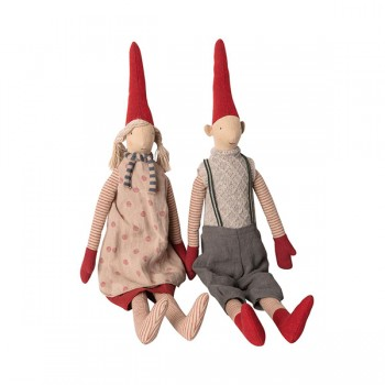 Muñecos duendes Magda y Morten - Medium