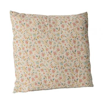 Cushion w. flowers 40x40 Rose