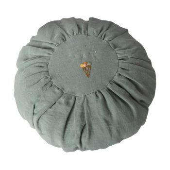 Cushion Round - Dusty blue