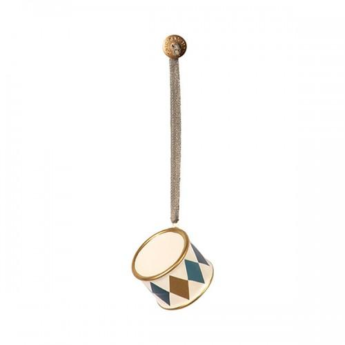 Tambor decoración metal - Dorado