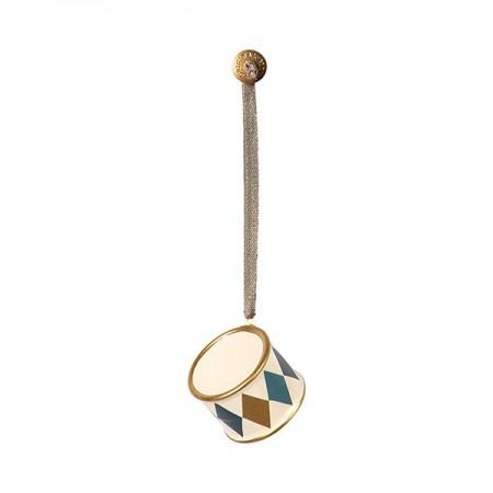 Metal Drum ornament - Gold