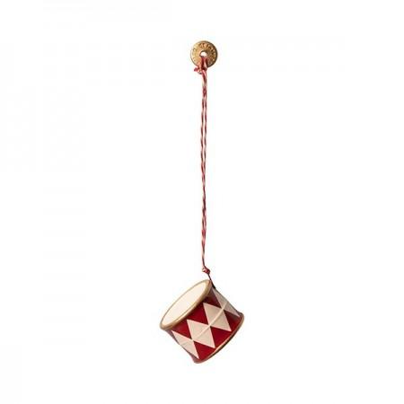 Metal Drum ornament - Red
