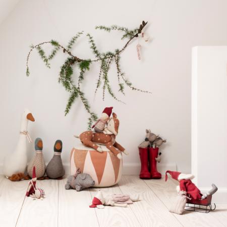 Adornos Navidad metal Blanco/Dorado en caja (6u.)