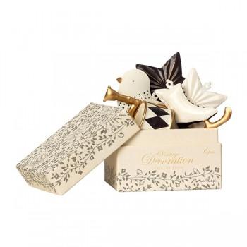 Metal Ornament Box 6 units - Anthracite/Gold