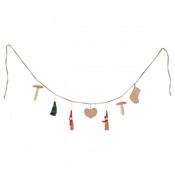 Christmas garland - 7 ornaments