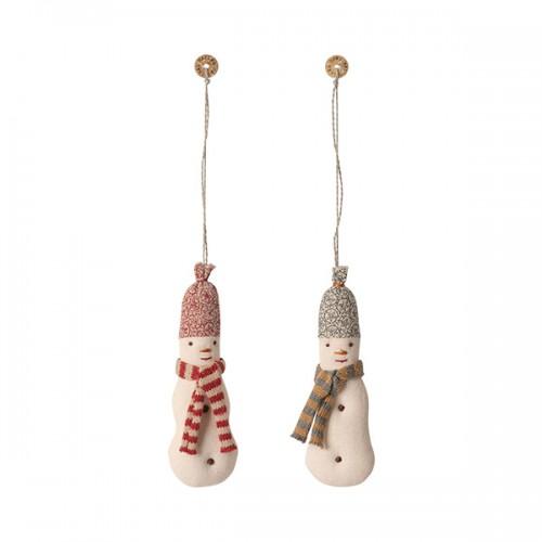 Fabric Snowman ornament