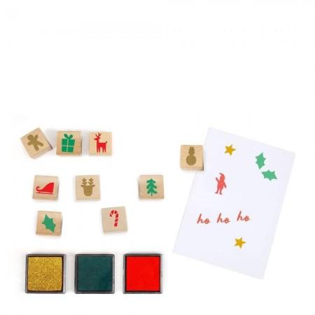Calendario de adviento Sellos navideños