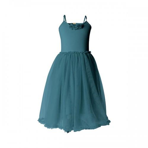 Ballerina dress petrol - Size 4/6 years