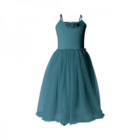 Ballerina dress petrol - Size 6/8 years