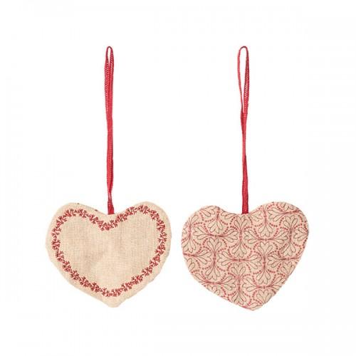 Corazón decoración tela