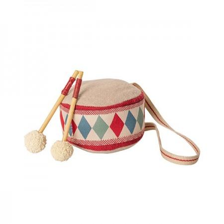 Tambor set en bolsa decoración tela