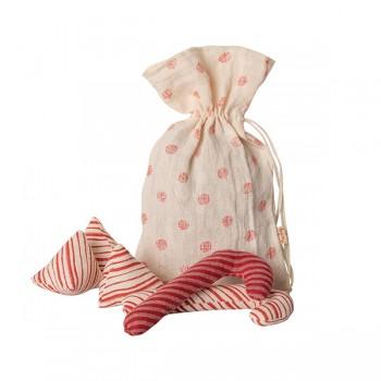 Candy en bolsa decoración tela