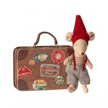 Christmas mouse in suitcase - Little Brother