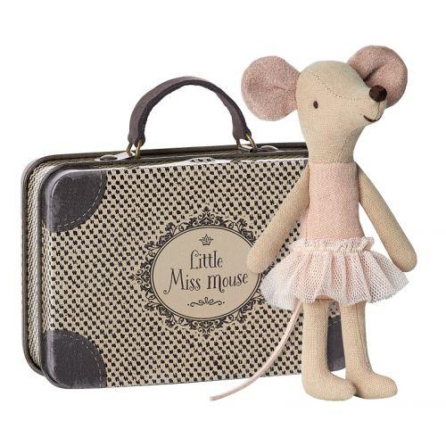 Ballerina, big sister in suitcase