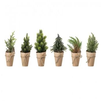Traditional Deco Tree Green - 6 assort