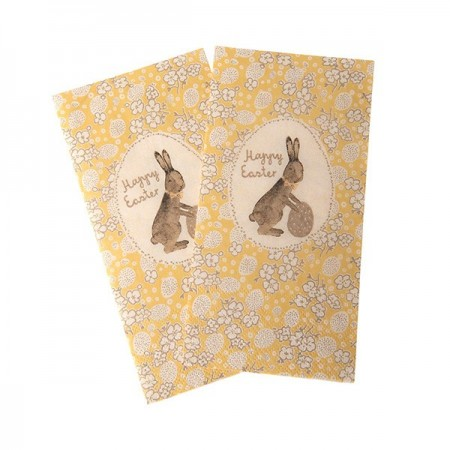 Paper Napkins, Mille Oeufs - Yellow