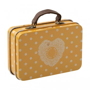 Metal Suitcase - Yellow Dots