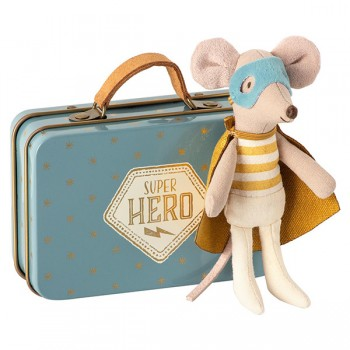 Superhero Mouse - Little Brother in suitcase