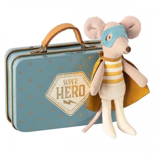 Ratoncito superhéroe en maleta - Pequeño