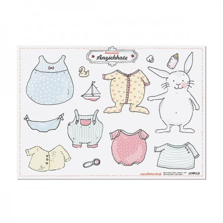 Paper Doll Bunny - Baby Animals