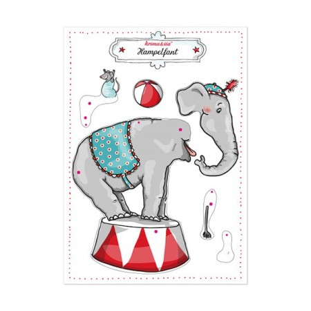 Papercraft Sheet - Jumping Elephant