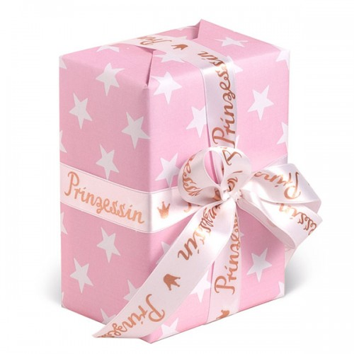 Gift Wrapping Paper - Stars Pink