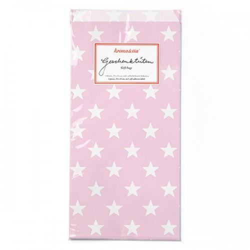 Gift-Bag Stars Pink - Set