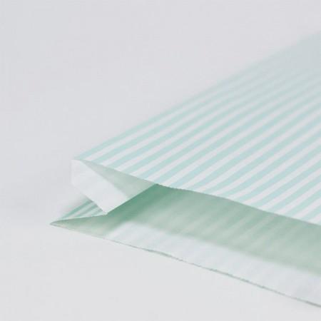 Gift-Bag Stripes Turquoise - Set