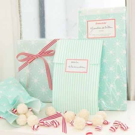 Gift-Bag Stars Turquoise - Set