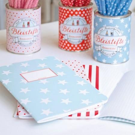Journal A5 - Stripes Blue