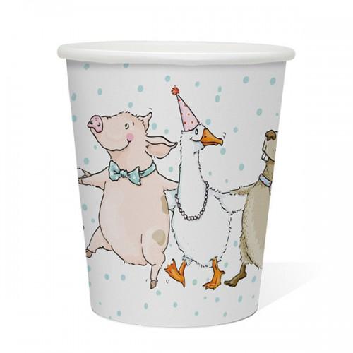 Vasos Papel - Fiesta de Animales