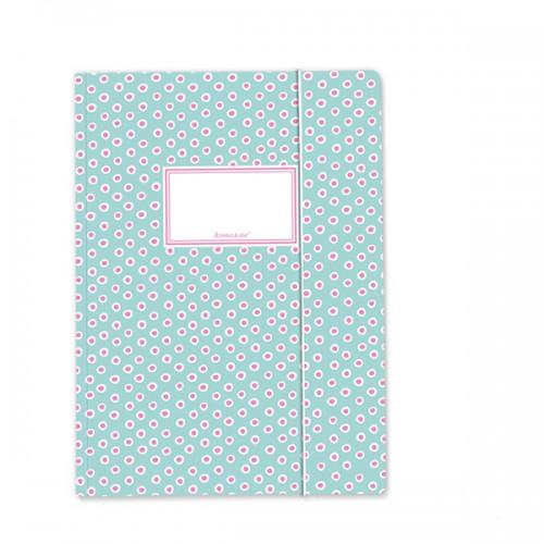 Folder Dabs Turquoise and Pink - A4