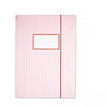 Carpeta Rayas Rosas con elástico - A4