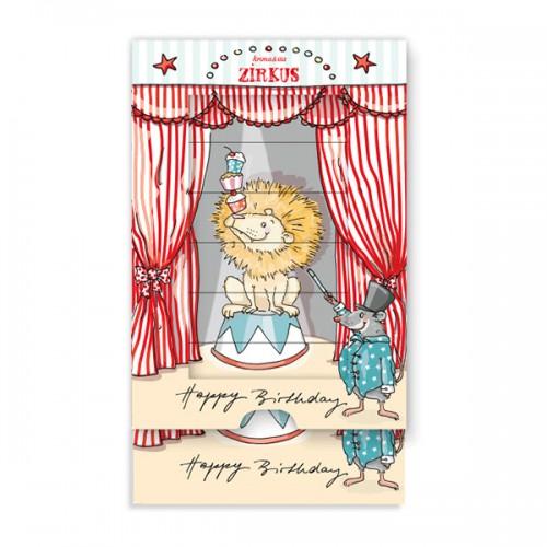 Sliding Card Birthday -Lion